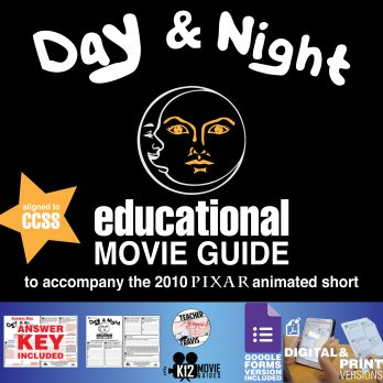 Day & Night Pixar Short Video Guide | Questions | Worksheet | Google Form (2002) Cover