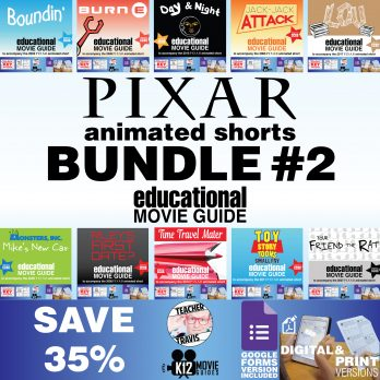 Pixar Short Video Guide Bundle #2 | SAVE 35% | Theme | Plot | Infer | Questions