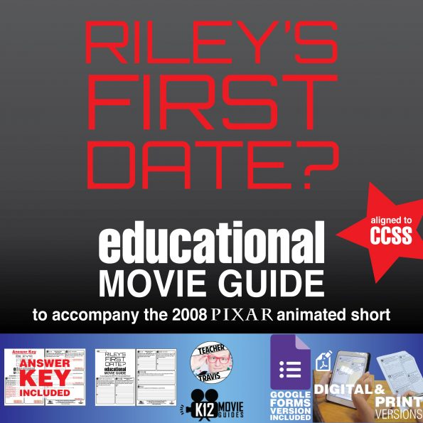 Riley's First Date? Pixar Short Video Guide | Questions | Worksheet | Google Form (2015) COVER