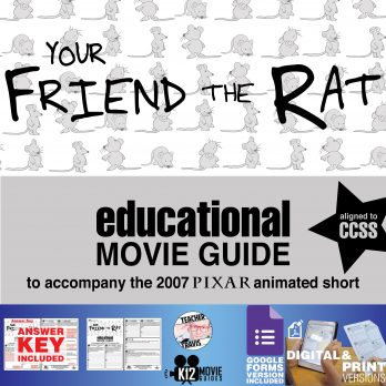 Your Friend the Rat Pixar Short Video Guide | Questions | Worksheet (2007) Cover