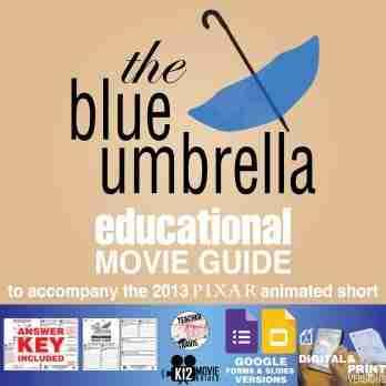 The Blue Umbrella (2013) Pixar Short Guide | Questions | Personification | Theme | Cover