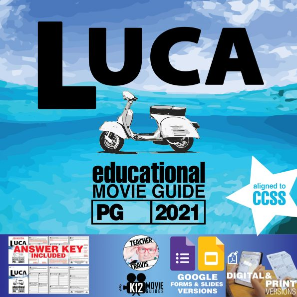 Luca Movie Guide | Worksheet | Questions | Google Classroom (PG - 2021) Cover