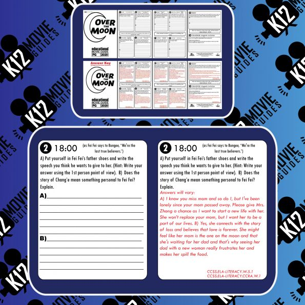 Over the Moon Movie Guide | Worksheet | Questions | Google Classroom (PG - 2020) Free Sample