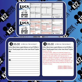 Luca Movie Guide | Worksheet | Questions | Google Classroom (PG - 2021) Sample