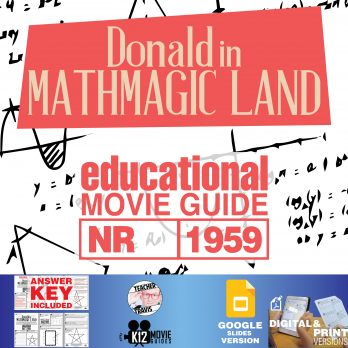 Donald in Mathmagic Land Movie Guide | Worksheet | Questions | Google Formats (1959) Cover