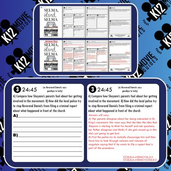 Selma, Lord, Selma Movie Guide | Worksheet | Questions | Google Classroom (TV - 1999) Sample