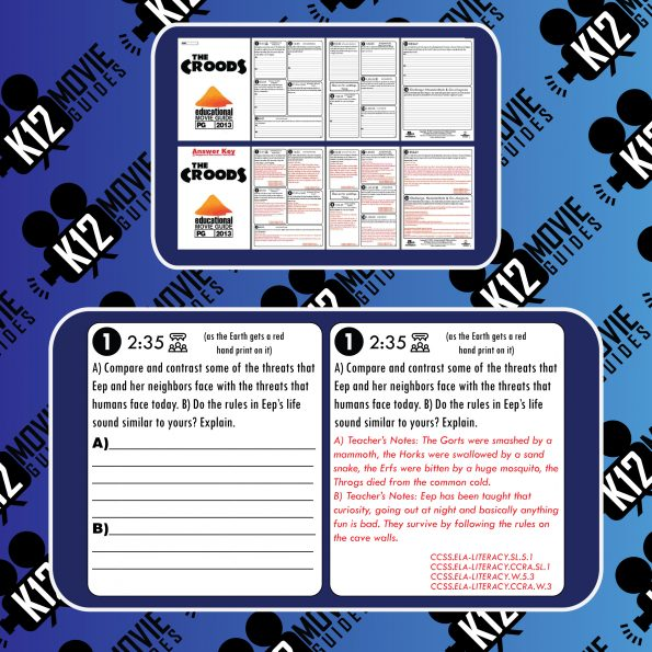 The Croods Guide | Worksheet | Questions | Google Classroom (PG - 2013) Sample
