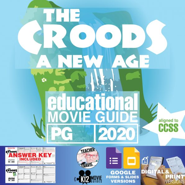 The Croods: A New Age Movie Guide | Worksheet | Questions | Google Classroom (PG - 2020) Cover