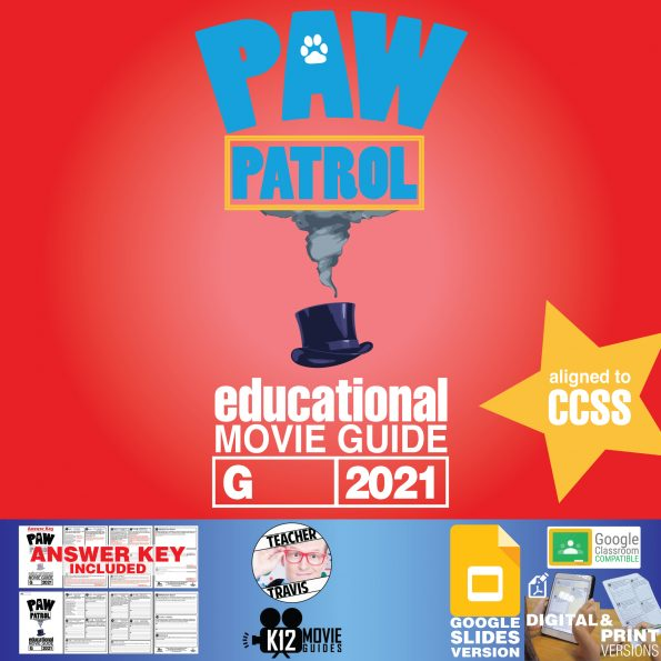PAW Patrol: The Movie - Movie Guide   Worksheet   Questions   Google (G - 2021) Cover