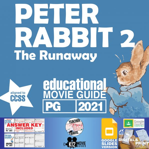 Peter Rabbit 2: The Runaway Movie Guide | Worksheet | Questions (PG - 2021) Cover