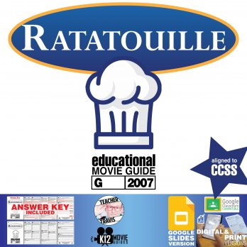 Ratatouille Movie Guide | Worksheet | Questions | Google (G - 2007) Cover