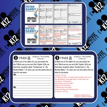 Peter Rabbit 2: The Runaway Movie Guide | Worksheet | Questions (PG - 2021) Sample