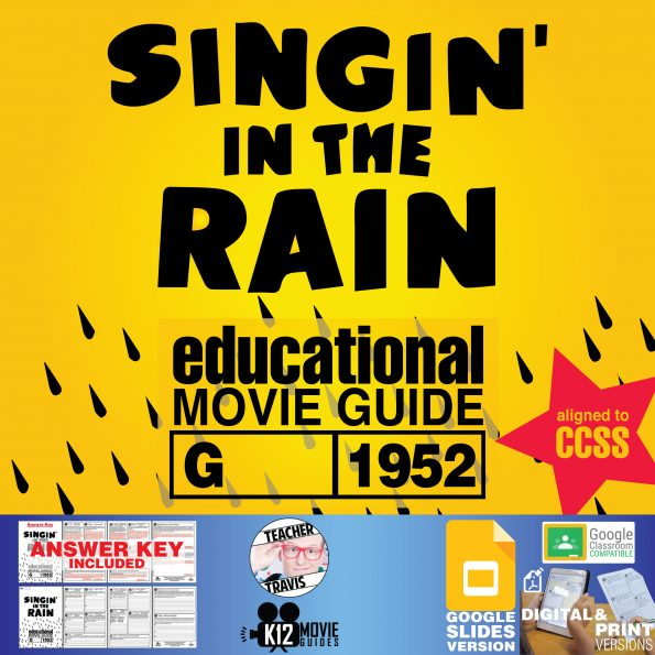 Singin' in the Rain Movie Guide   Worksheet   Questions   Google (G - 1952) Cover