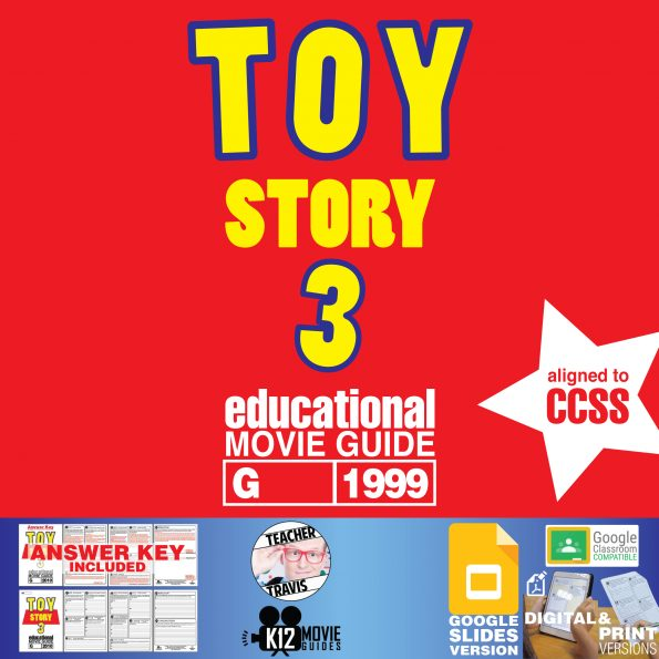 Toy Story 3 Movie Guide | Worksheet | Questions | Google Classroom (G - 2010) Cover