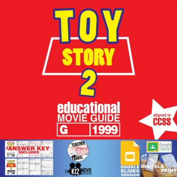 Toy Story 2 Movie Guide | Worksheet | Questions | Google (G - 1999) Cover