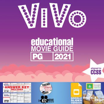 Vivo Movie Guide | Worksheet | Questions | Google Classroom (PG - 2021) Cover