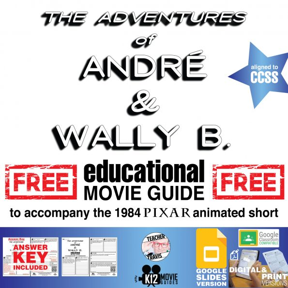 André and Wally B. Pixar Short Video Guide   Questions   Worksheet (G - 1984) Cover
