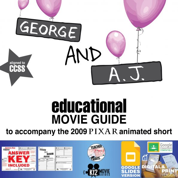George and A.J. Pixar Short Video Guide   Questions   Worksheet   Google (2009) Cover
