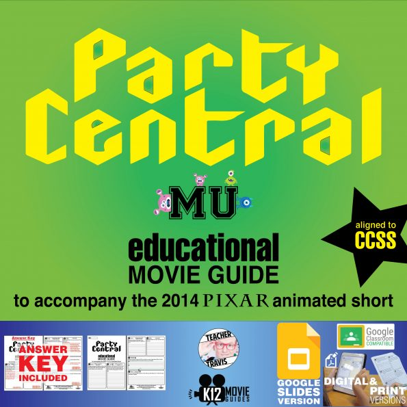 Party Central Pixar Short Video Guide | Questions | Worksheet (PG - 2014) Cover