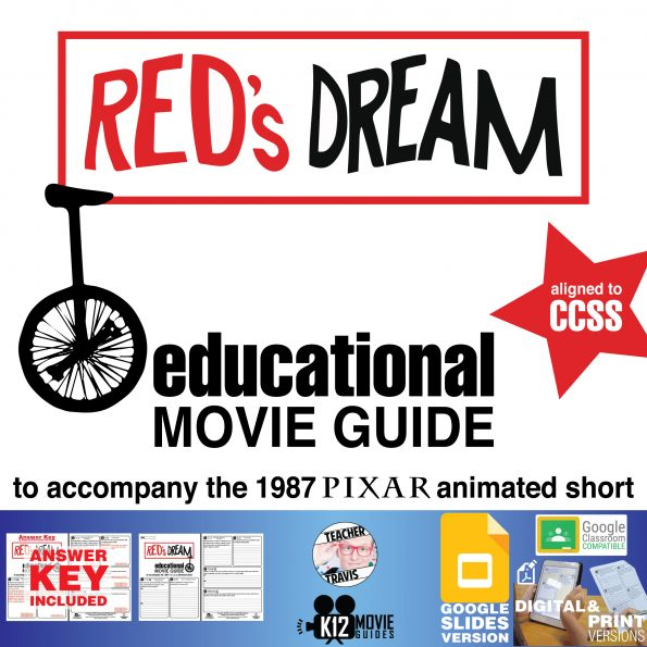 Red's Dream Pixar Short Video Guide   Questions   Worksheet   Google (G - 1987) Cover