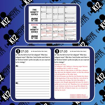 The Mighty Ducks Movie Guide | Worksheet | Questions | Google (PG - 1992) Sample