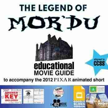 The Legend of Mor'du Pixar Short Video Guide   Worksheet   Questions (2012) COver