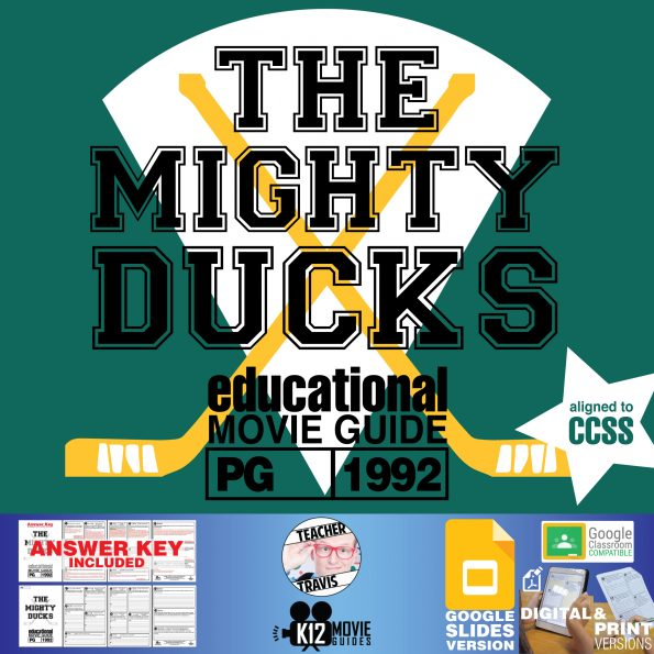 The Mighty Ducks Movie Guide   Worksheet   Questions   Google (PG - 1992) Cover