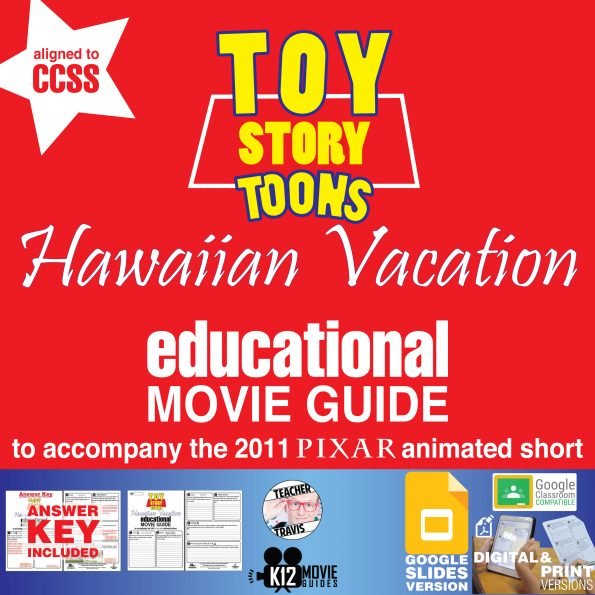 Toy Story Toons: Hawaiian Vacation Pixar Short Video Guide   Questions   Worksheet   Google (2011) Cover