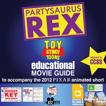 Toy Story Toons: Partysaurus Rex Pixar Short Video Guide | Questions | Worksheet Cover
