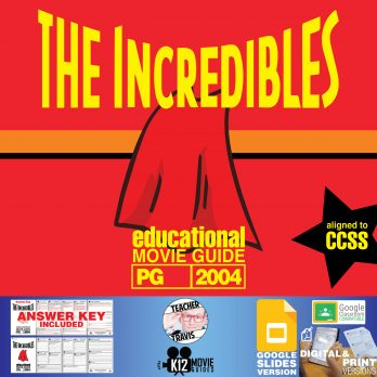 The Incredibles Movie Guide   Worksheet   Questions   Google (PG - 2004) Cover