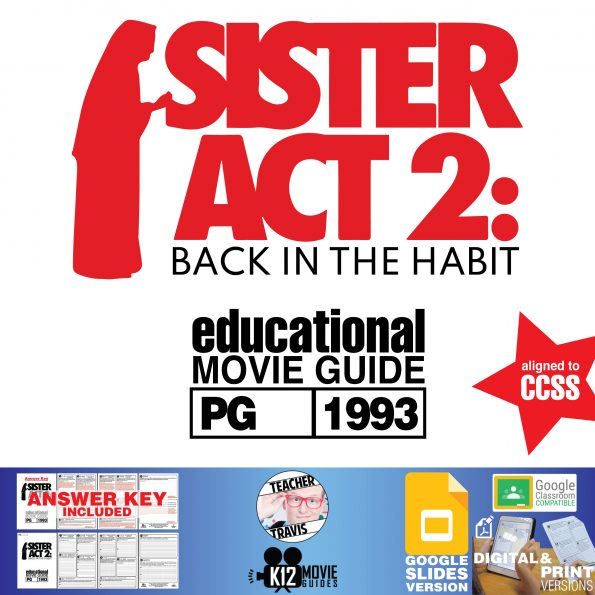 Sister Act 2: Back in the Habit Movie Guide | Worksheet | Questions (PG - 1993) Cover