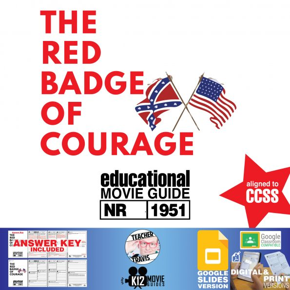 The Red Badge of Courage Movie Guide | Worksheet | Questions (NR - 1951) Cover